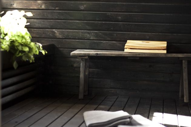 sauna, musta sauna