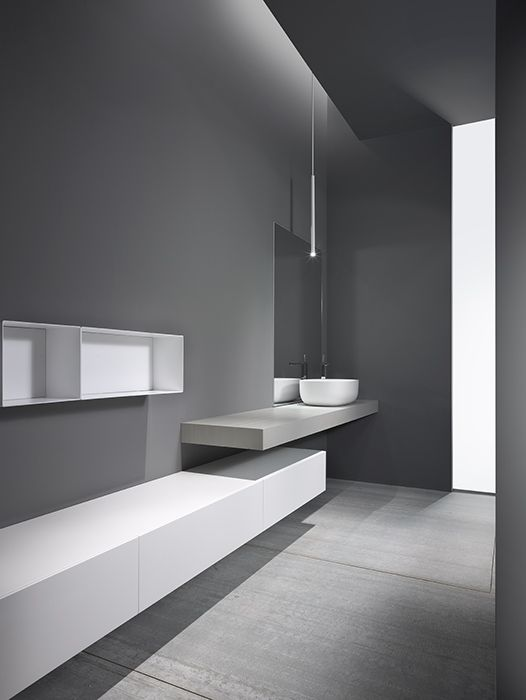 CASABATH - Wall Collection - love the geometry, not crazy about vessel sink