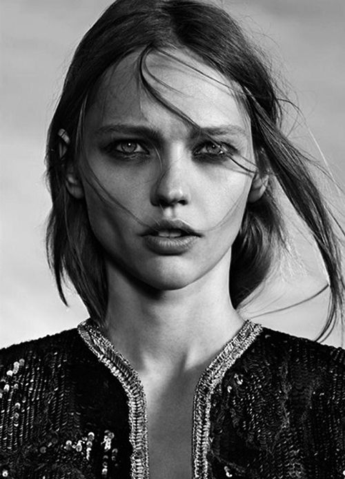 Sasha Pivovarova photographed by Hedi Slimane for Saint Laurent Resort 2014