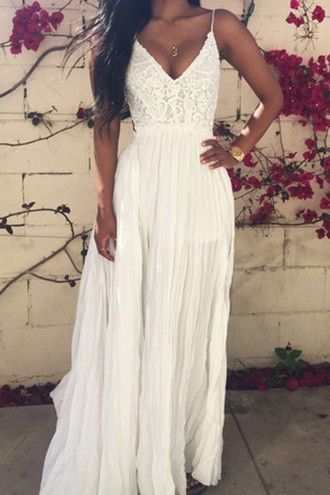 dress white lace zaful girl girly summer summer dress boho boho dress bohemian party beach.beach dress prom prom dress vintage hipster tumblr cute                                                                                                                                                                                 More