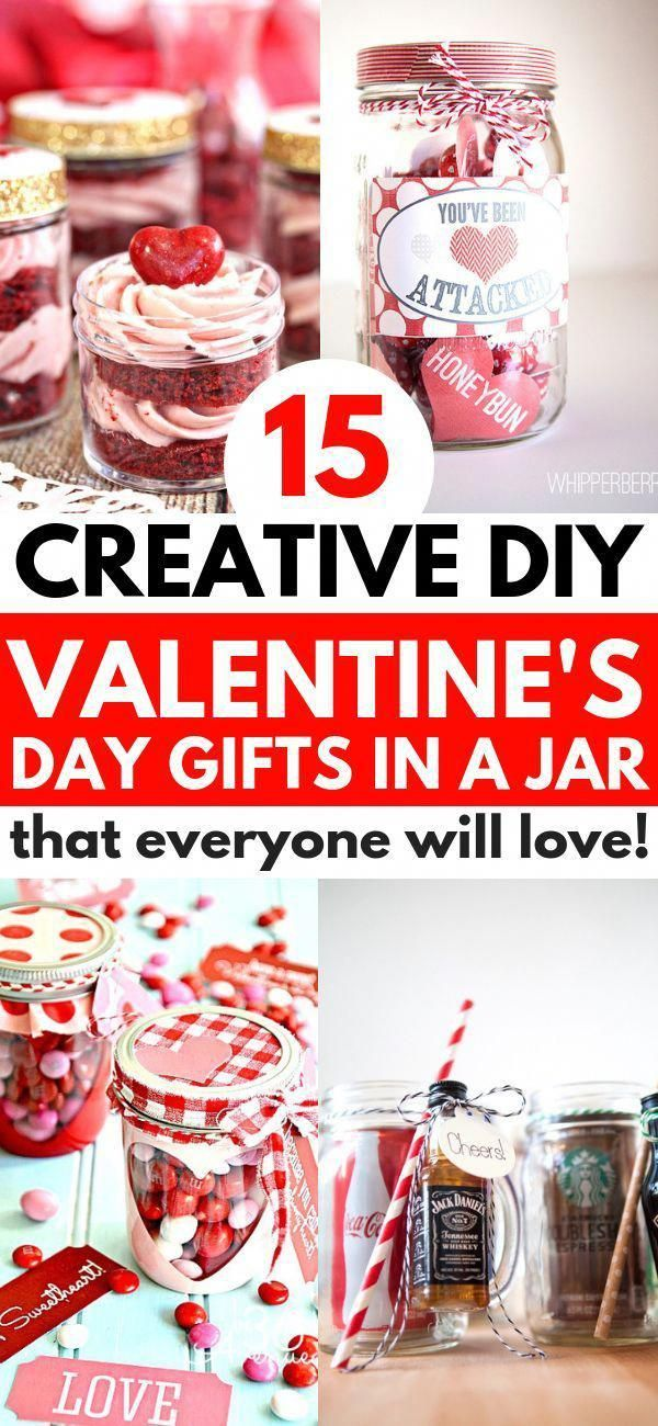 Valentines Gifts In A Jar that are fun and easy to make for your friends, family, and boyfriend. These simple gift ideas include hot chocolate and coo…