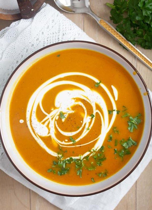 Pumpkin And Sweet Potato Soup Recipe Sweet Potato Soup Sweet Potato Soup Vegan Pumpkin Sweet Potato Soup