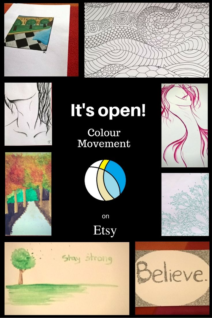 It's open! Yesterday, I did started ColourMovement. I cannot wait to have my very first buyer. <3