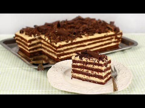 """Prăjitura """"Lulu"""" cu ciocolată și cremă de mascarpone și caramel - YouTube"""