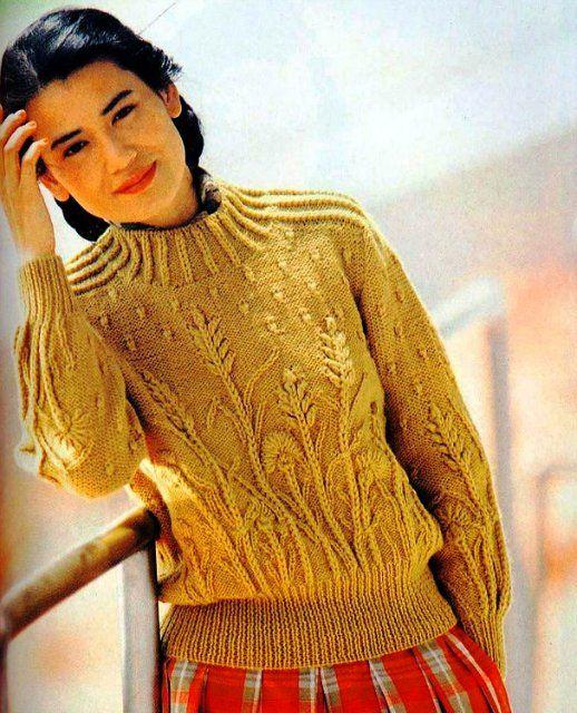 Пуловер с колосками. Обсуждение на LiveInternet - Российский Сервис Онлайн-Дневников