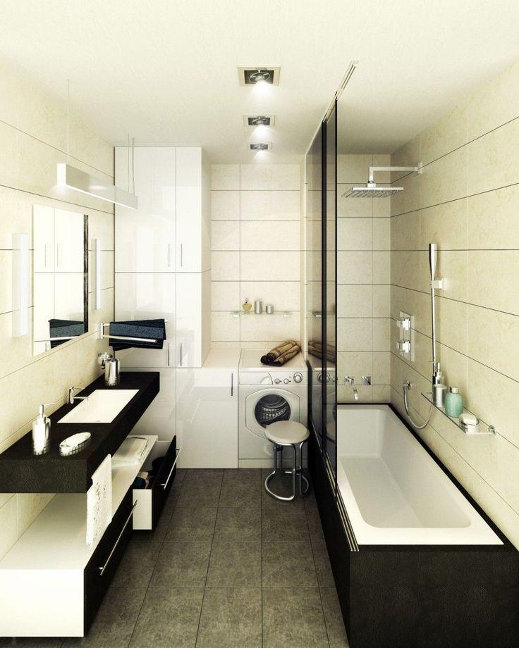 Fancy Narrow Bathroom Floor Cabinet And Small Design