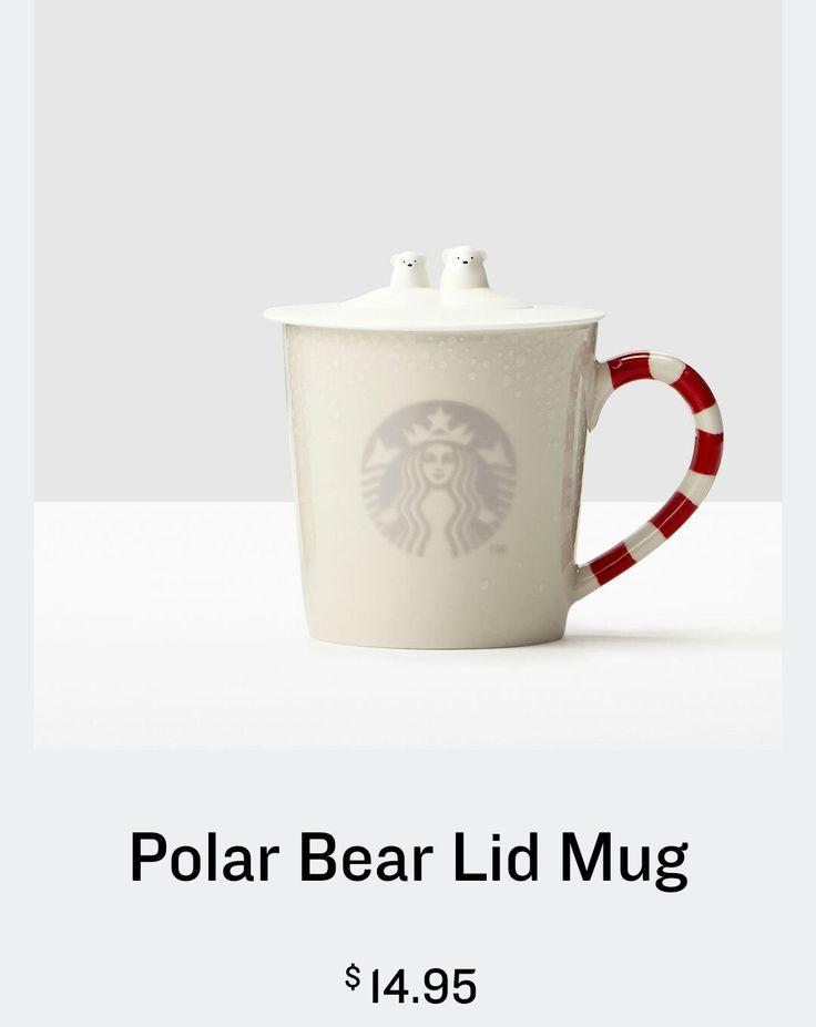 starbucks polar bear lid mug