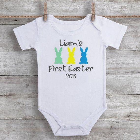 7 ate 9 Apparel Baby Boys Funny Rabbit Easter Hoodie