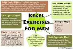 Kegel exercises strengthen the pelvic floor (pubococcygeus) muscles and increase blood flow to the penis region. When you perform these exercises correctly, you lift up your #testicles, strengthen your cremaster and anal sphincter muscles and increase blood flow to your penis, all at the same time. They will also help #Healthier pelvic floor muscles, thanks to Kegels, gives you a more erect erection. Kegels will help you have harder erections that last longer, thanks to the improvement of…