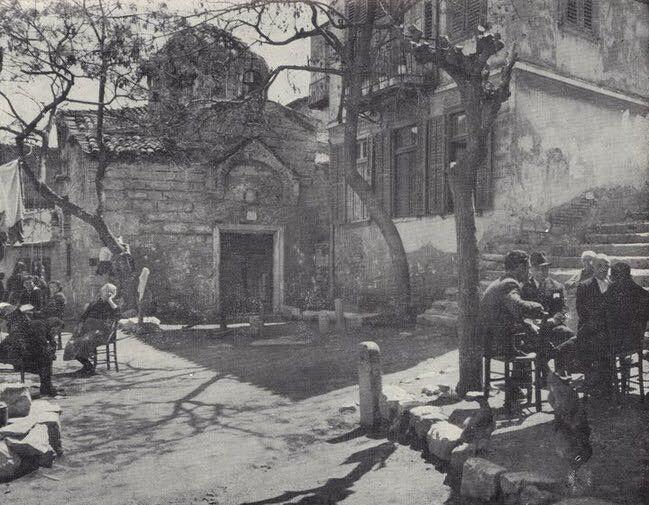 Ιστορική φωτογραφία Αγίου Ιωάννου Θεολόγου Πλάκας από τις αρχές του 20ου αιώνος