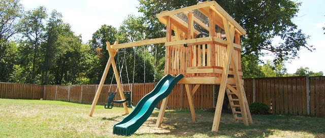 Custom Backyard Playsets : skylight  Natural State Treehouses #kids #swingset #playset #backyard