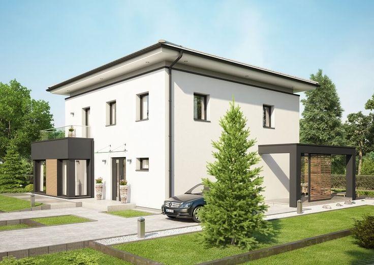 Moderne stadtvilla concept m 193 bien zenker for Einfamilienhaus flachdach grundriss