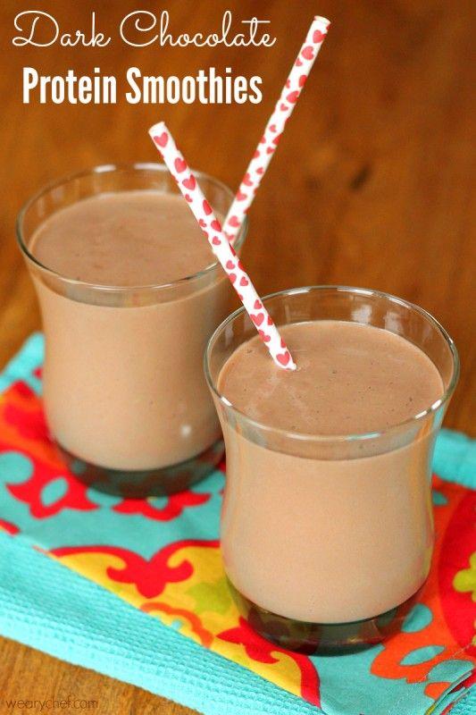 Dark Chocolate Protein Smoothies
