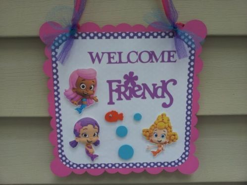 Door sign Bubble guppies Welcome friends party decoration. 17 Best images about BUBBLE GUPPIES on Pinterest   Toys  Bubble