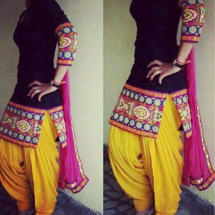 simply gorgeous punjabi - patiyala suit! trendy! surely gonna make a replica!