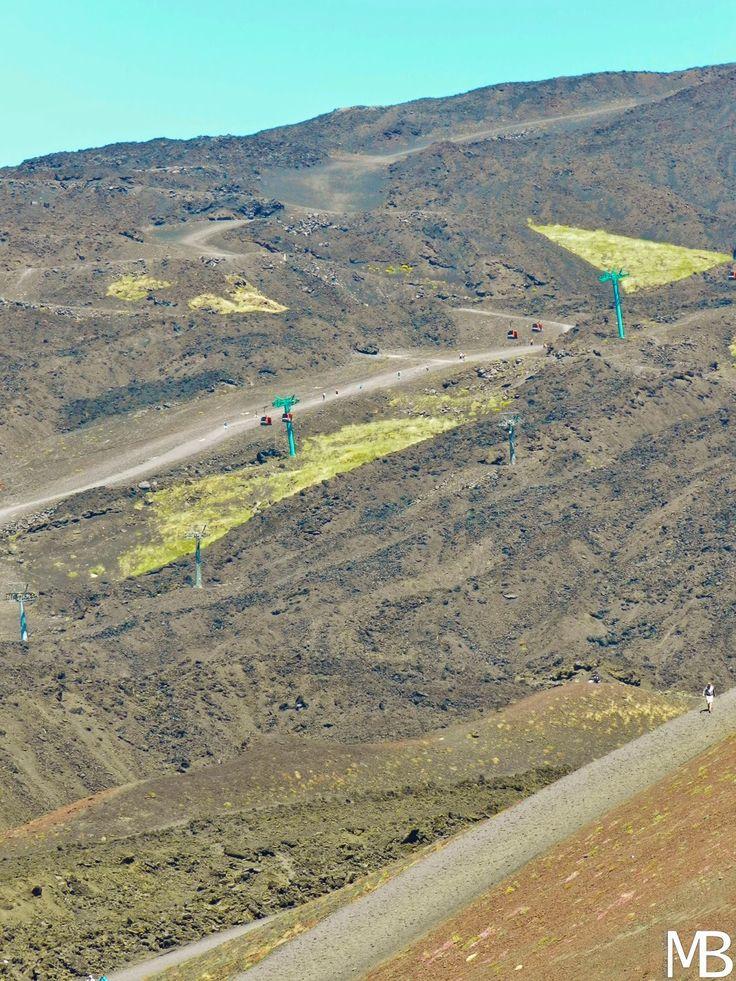Seggiovia sull'Etna - Chairlift on Etna