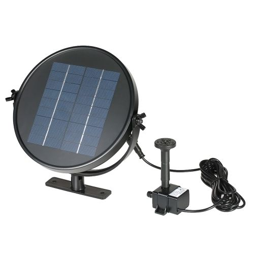 (12.21$)  Know more  - Anself 9V 3W Solar Panel Solar Powered Fountain Submersible Brushless Water Pump Kit for Bird Bath Pond Pull 190L/H 170cm Lift