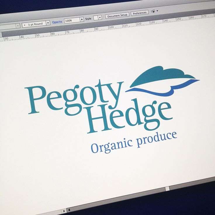 Pegoty Hedge, a logo designed for A logo designed for an Organic Beef Farm nestled in the Malvern Hills, hopefully the hills and river can be seen in the leaf. #browncreative #browncreativelogos
