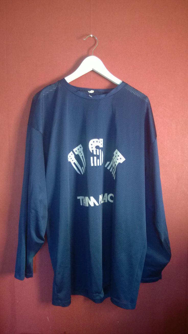 Vintage 90s Sweatshirt Mesh Blue Basketball Top VINTAGE SPORTSSHIRT blue Mens XXL Longsleeve Activewear Sweatshirt Blue xL Xxl by VirtageVintage on Etsy