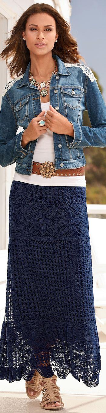 Falda crochet.