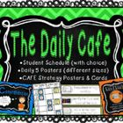 This is a zip file containing posters, student schedules {student choice}, Cafe strategies for Kindergarten, labels of the K cafe strategies, and m...
