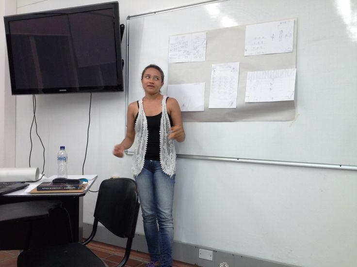 Exposición de los diagnósticos de las instituciones donde realizan sus prácticas pedagógicas.