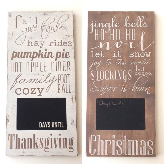 Christmas countdown reversible sign, Christmas calendar, days until Christmas on Etsy, $140.00