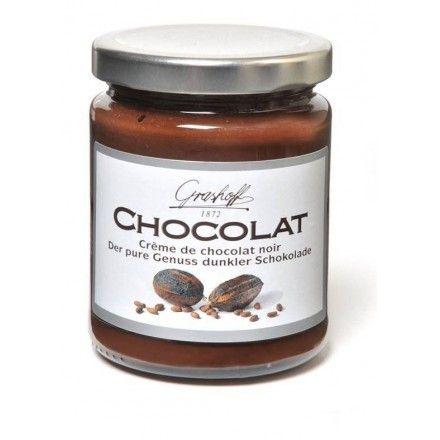 La tienda online gourmet y delicatessen Érase un gourmet tiene a la venta crema de chocolate negro marca Grashoff, para untar en tostadas, tortas, pasteles...