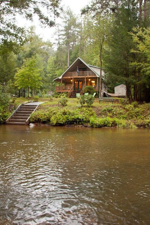 River Mist Log Cabin Waterfront Hottub Fishing Wifi