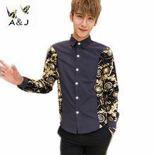 2014 vente chaude nouveaux hommes chemise décontractée Slim Fit style Mens  chemises habillées hommes mode chemises