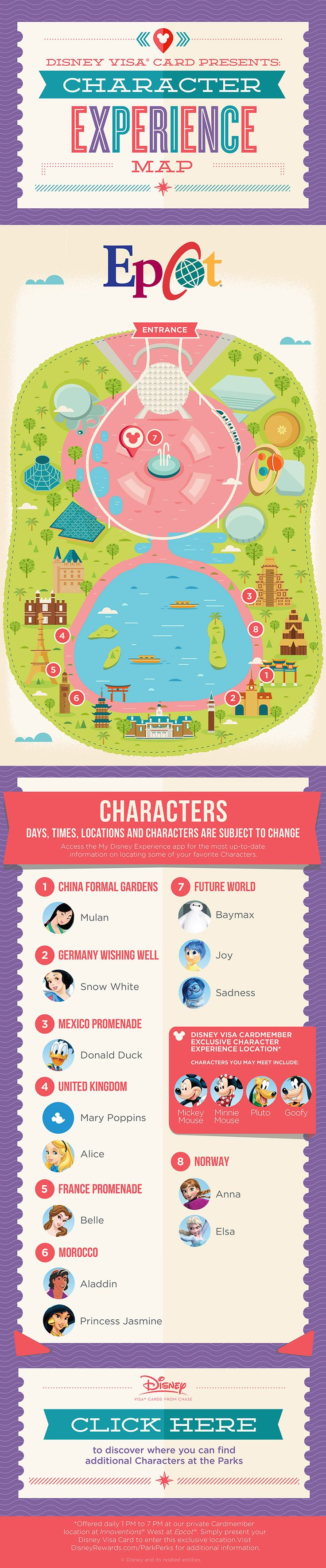 If you're heading to Epcot® and wondering what Characters you can meet, wonder no more: this guide will tell you who you can meet and where you can meet them! Don't forget to check the My Disney Experience app before you head out for up-to-date information!