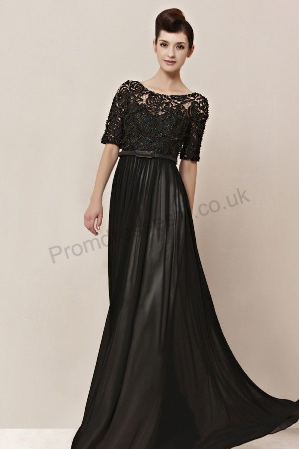 Long Evening Dresses with Sleeves UK