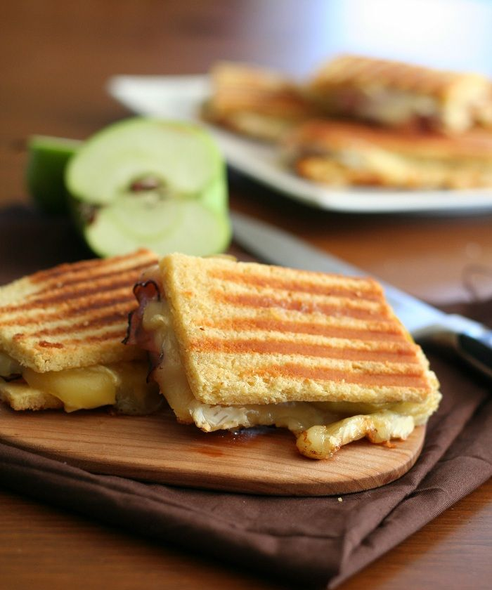 Brie, Ham and Green Apple Panini @dreamaboutfood