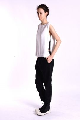 White top with side slits | Adelina Ivan Studio