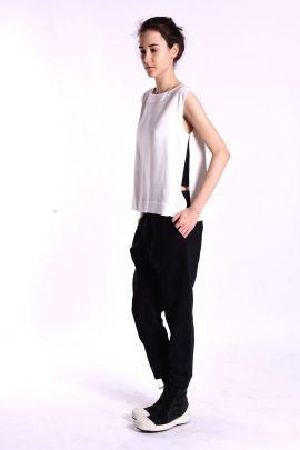 White top with side slits   Adelina Ivan Studio