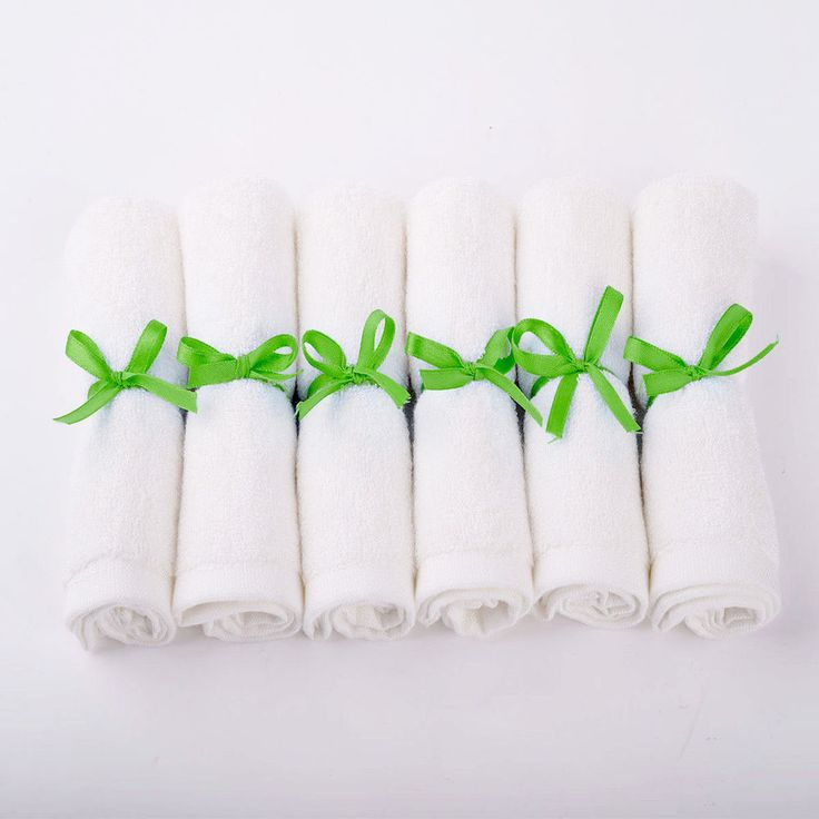6 Pack Infant/Baby Bamboo Wash cloth Organic Baby Wipe Towels Terry Solid 10*10 #MMY