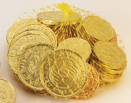 Leave a few chocolate coins on your stairs for the children to find on Christmas morning  and tell them that they must have fallen out of Santa's pocket.