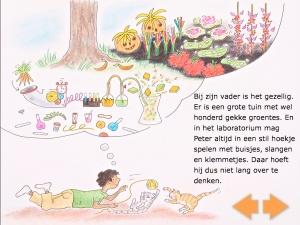 """Witlof met Pootjes    Wat leert mijn kind van deze educatieve app:  Kennis maken met geschreven taal.  Leren lezen.  Begrijpend lezen.  Nieuwe woorden leren.  Kennis maken met nieuwe situaties (met name over het thema """"wetenschap"""").  Stimuleert de fantasie.  Stimuleert de luisterhouding."""