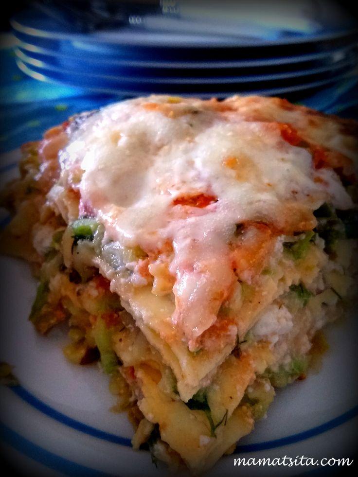 Lasagna with zucchini #lasagna #zucchini #homemade #recipe #mamatsita