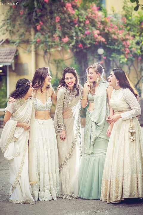 Beautiful bride and bridemates