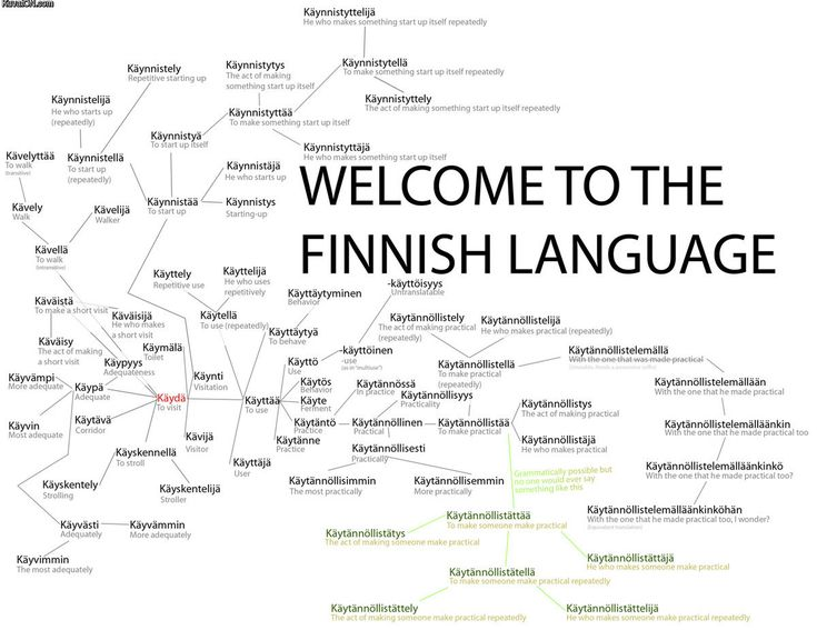 Welcome to the Finnish language: käydä - to visit