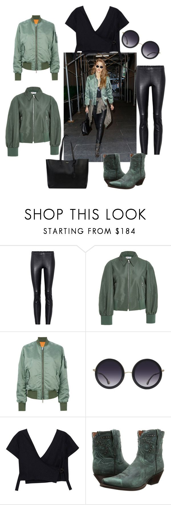 street style 1 by feliciamia on Polyvore featuring RED Valentino, Unravel, STOULS, Dan Post, Yves Saint Laurent and Alice + Olivia