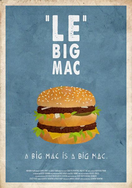 "Pulp Fiction - A Big Mac's a Big Mac, but they call it ""Le Big Mac"" #GangsterMovie #GangsterFlick"