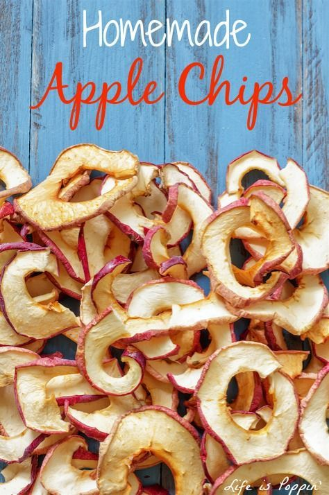 These delicious cinnamon apple chips will disappear quicker than you can make them! They're perfect for healthy snacks and easy to take on the road. The secret is baking at a very low temperature for a long time, which dehydrates the apples.