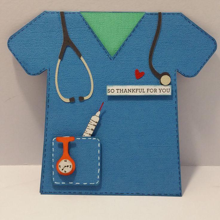 Nurse Scrub Cake Template