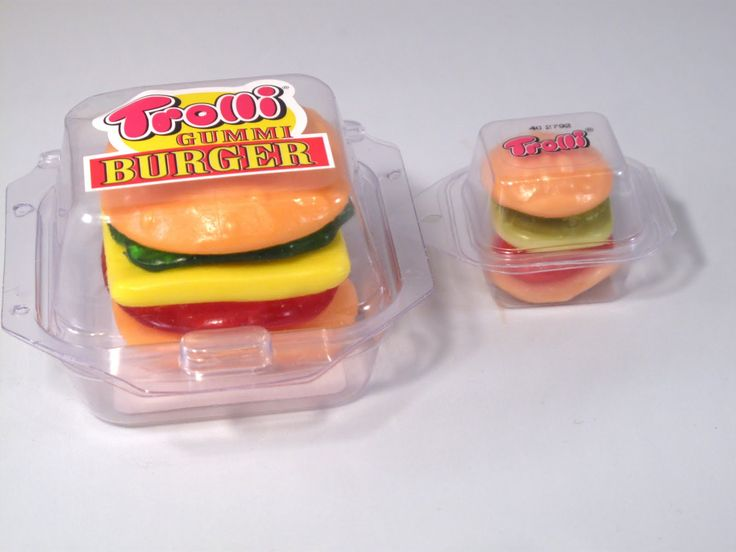 Whoever made these gummy burgers is an effing genius!