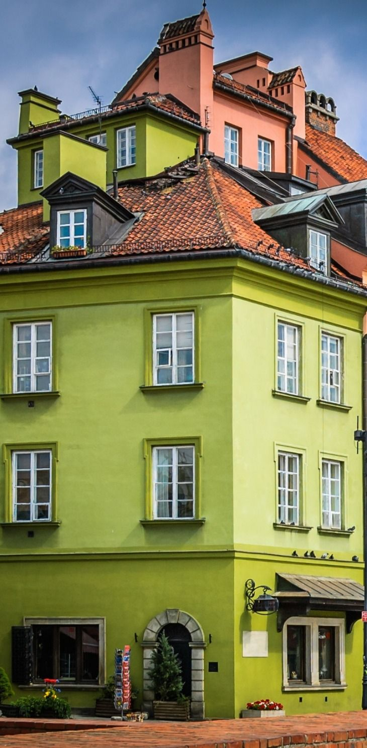 Colorful Old Town, Warsaw, Poland
