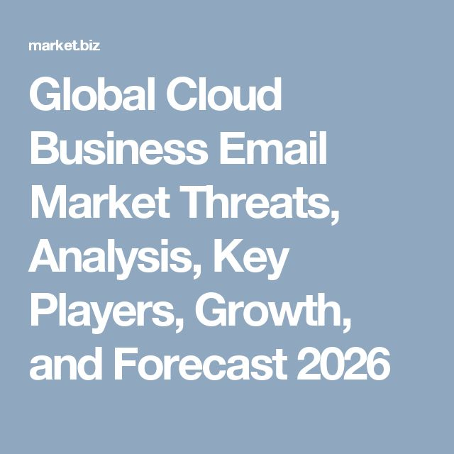 Global Cloud Business Email Market Threats, Analysis, Key Players, Growth, and Forecast 2026