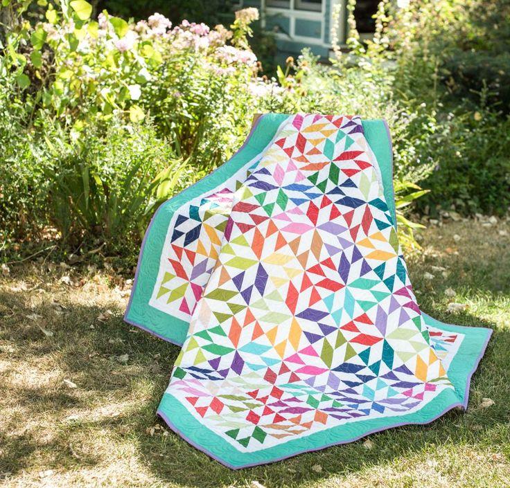 Kona Cotton Fabric & Amy's Stars Pattern Quilt Kit - None