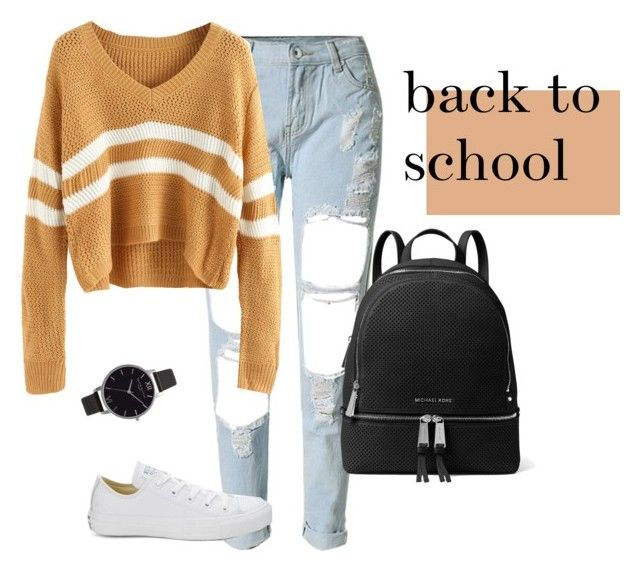 """back to school (finally)"" by bbriii on Polyvore featuring Converse, MICHAEL Michael Kors and Olivia Burton"